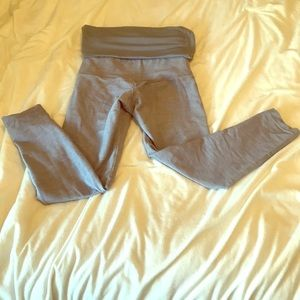 Lululemon Fold-over High Waist Grey Capris Size 4